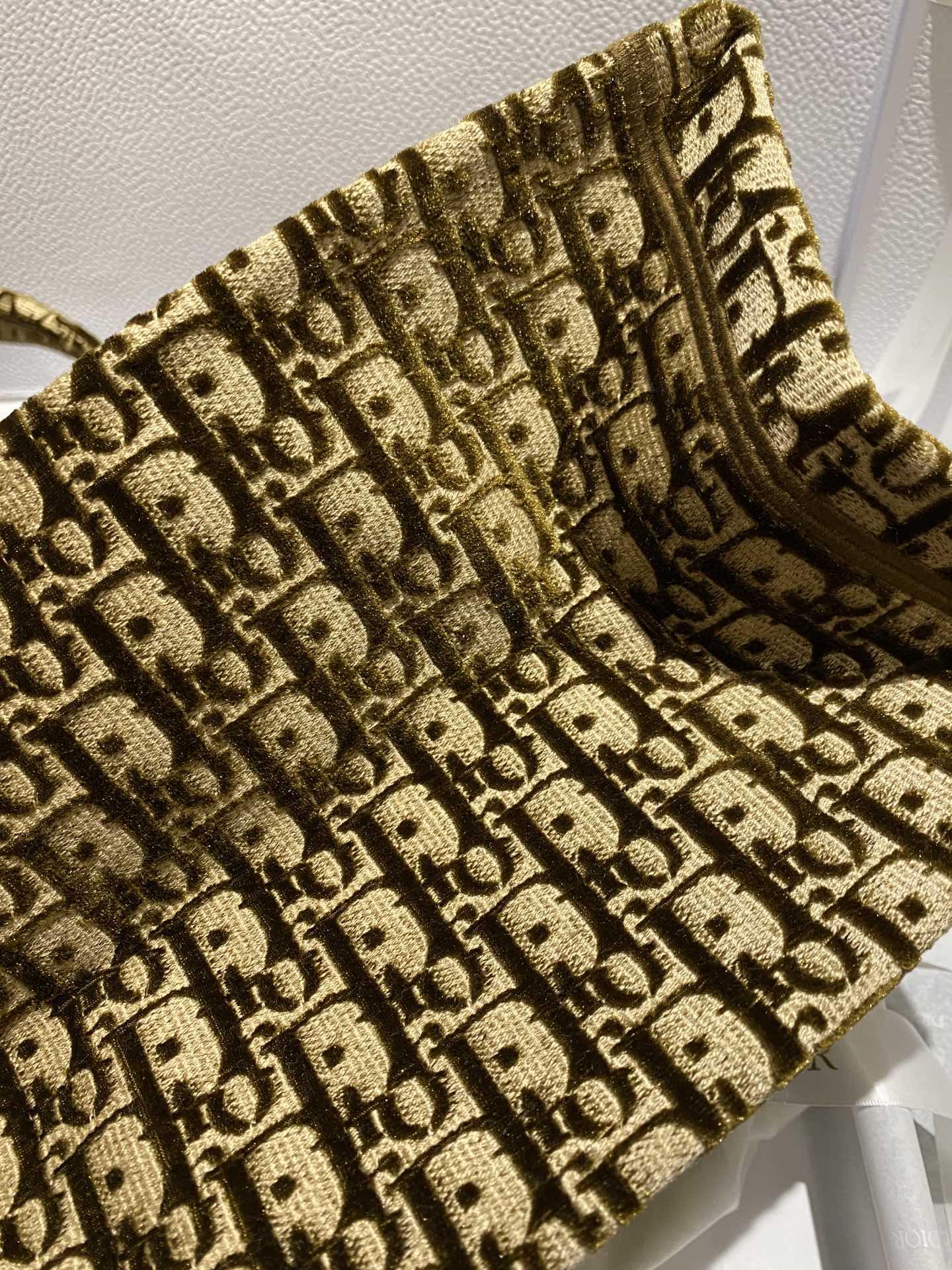 Dior 迪奥 购物袋 丝绒咖色 大号/41.5cm