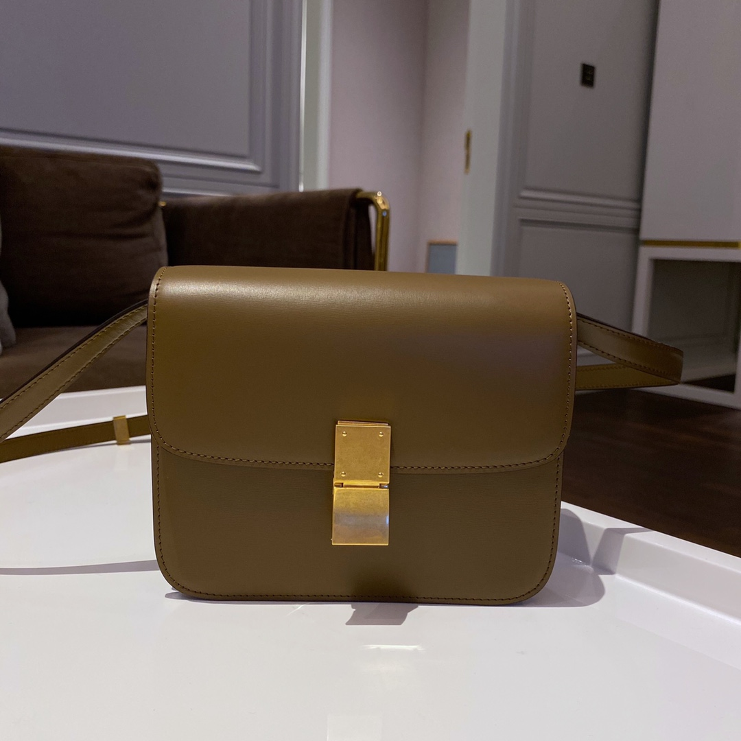 Celine 思琳 Box Teen size 18.5cm 焦糖色自带高级感