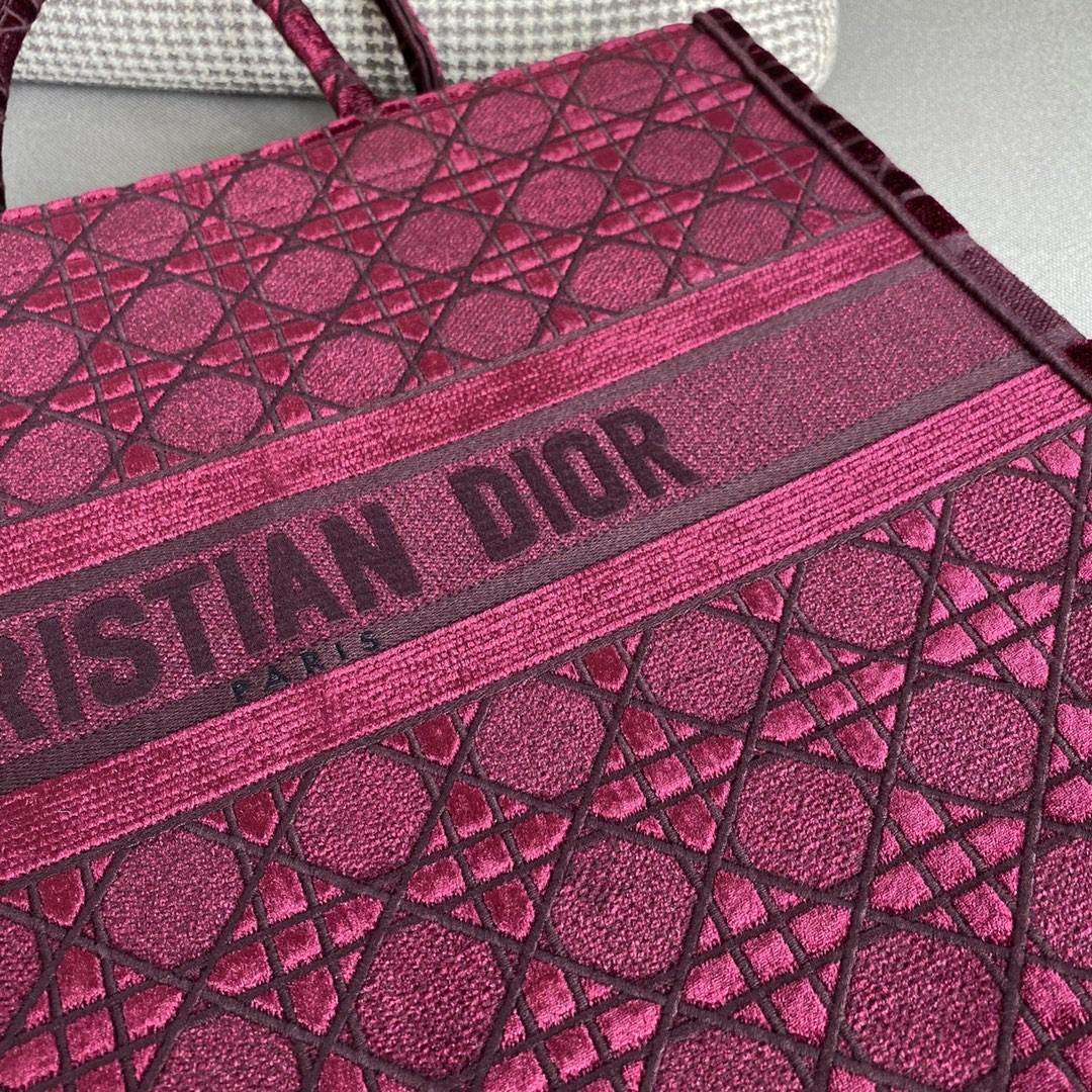 Dior 迪奥 丝绒 菱格红 大号/41.5cm