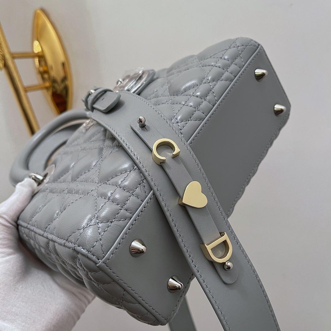 Dior 迪奥 四格 20cm灰羊银
