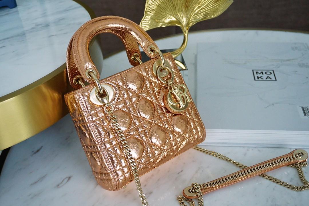 Dior 迪奥 三格【限量版】鹿皮 香槟金 实物绝美