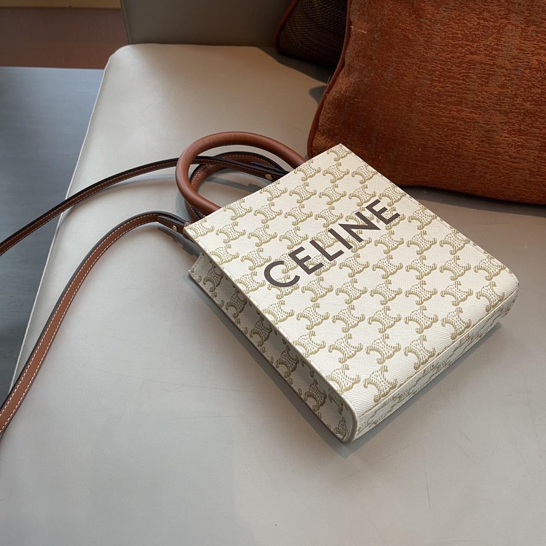 CELINE 思林 mini 托特包 17*21*4cm 复古和现代时尚相结合