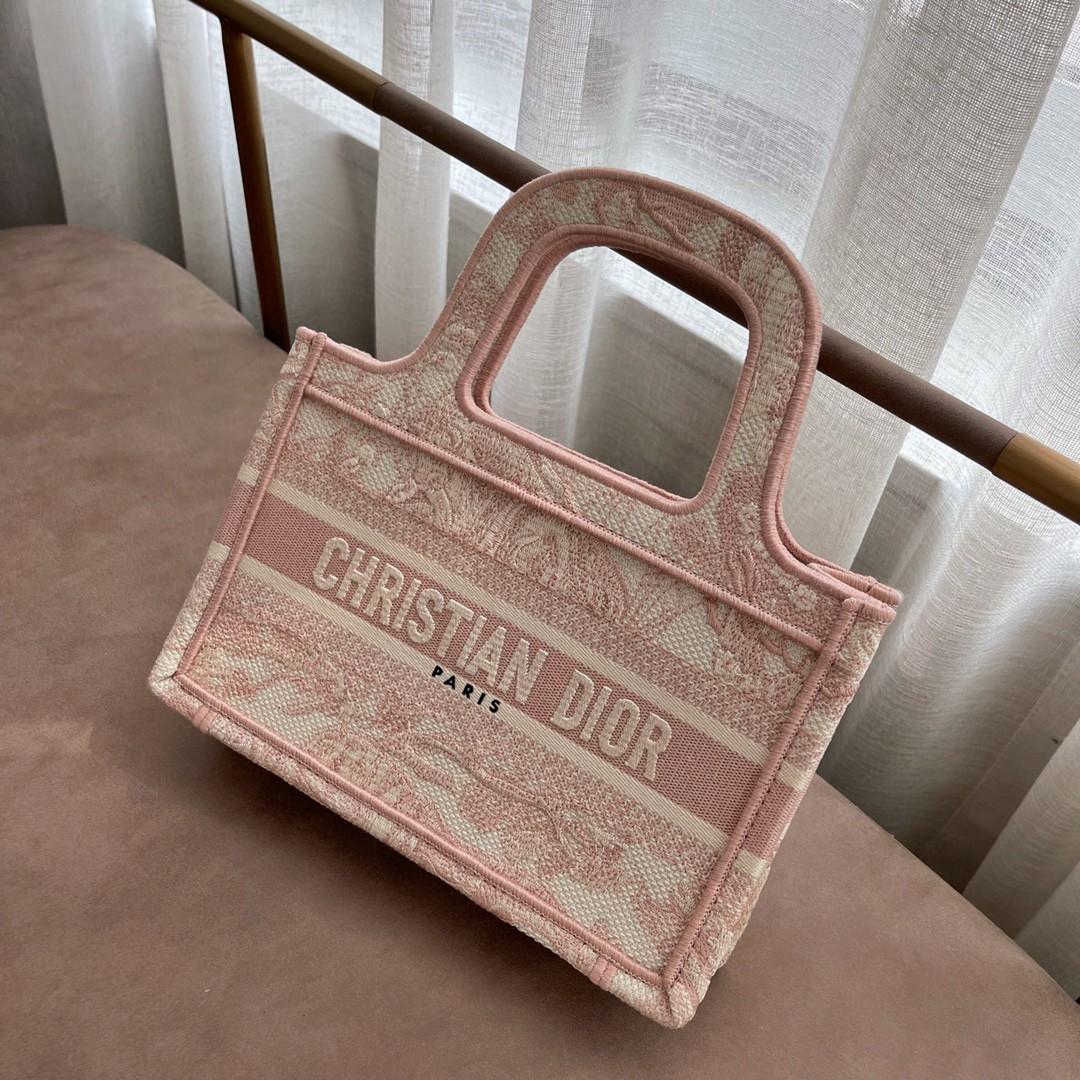 Dior 迪奥 购物袋 mini 粉老虎 22.5cm 可爱艺术