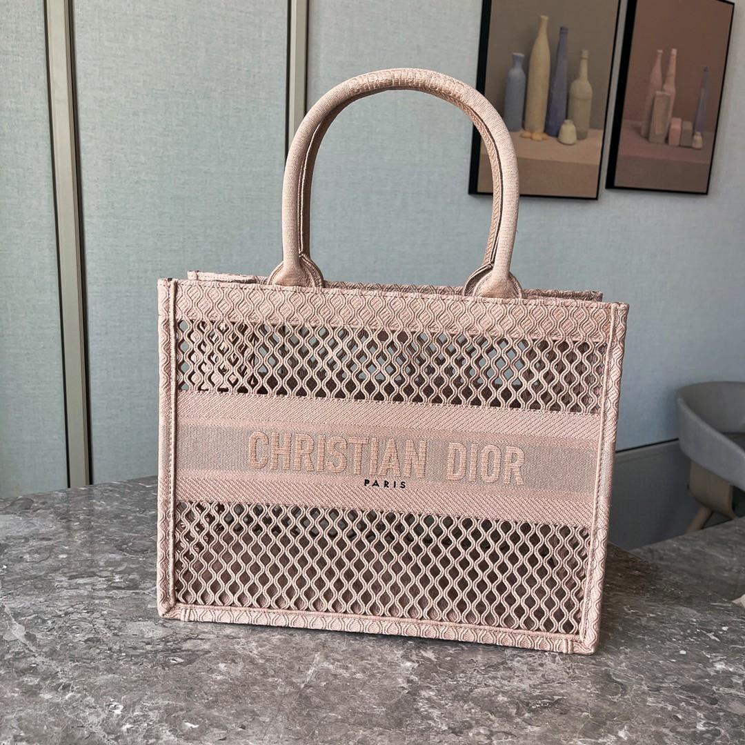 Dior 迪奥 购物袋 网文 裸色 小号/36.5cm现货