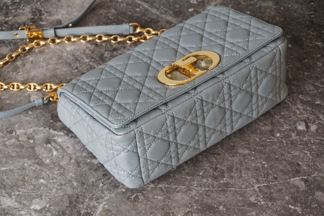 Dior 迪奥 Caro手袋 中号/25.5cm 灰色🧡 永恒典雅态度亦是无尽浪漫格调