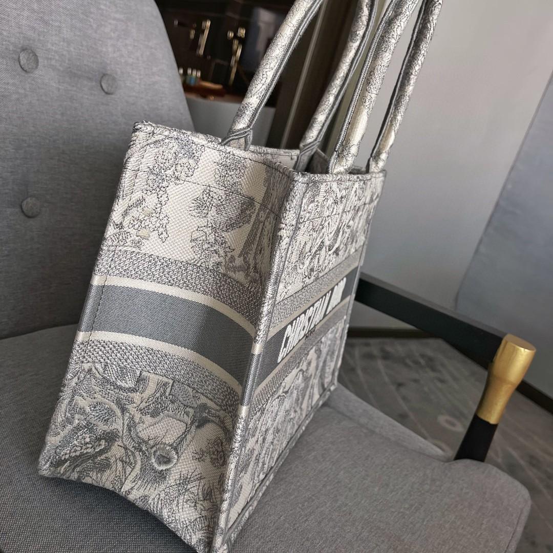 Dior 迪奥 购物袋 灰老虎 小号 36.5cm 刺绣立体 特别精致