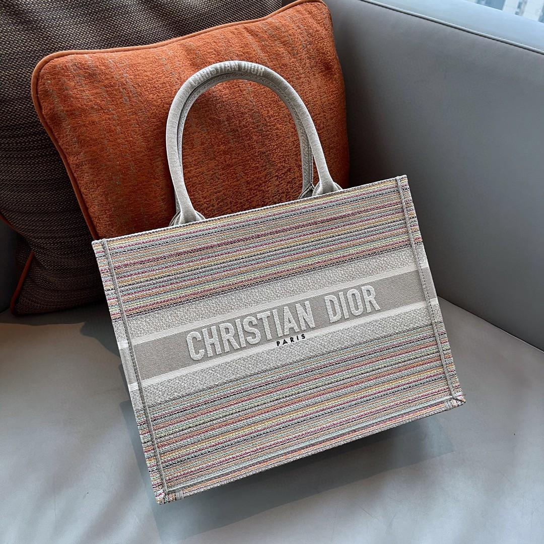 Dior 迪奥 购物袋条纹款 线条简单利落   造型感流畅 BOOK TOTE