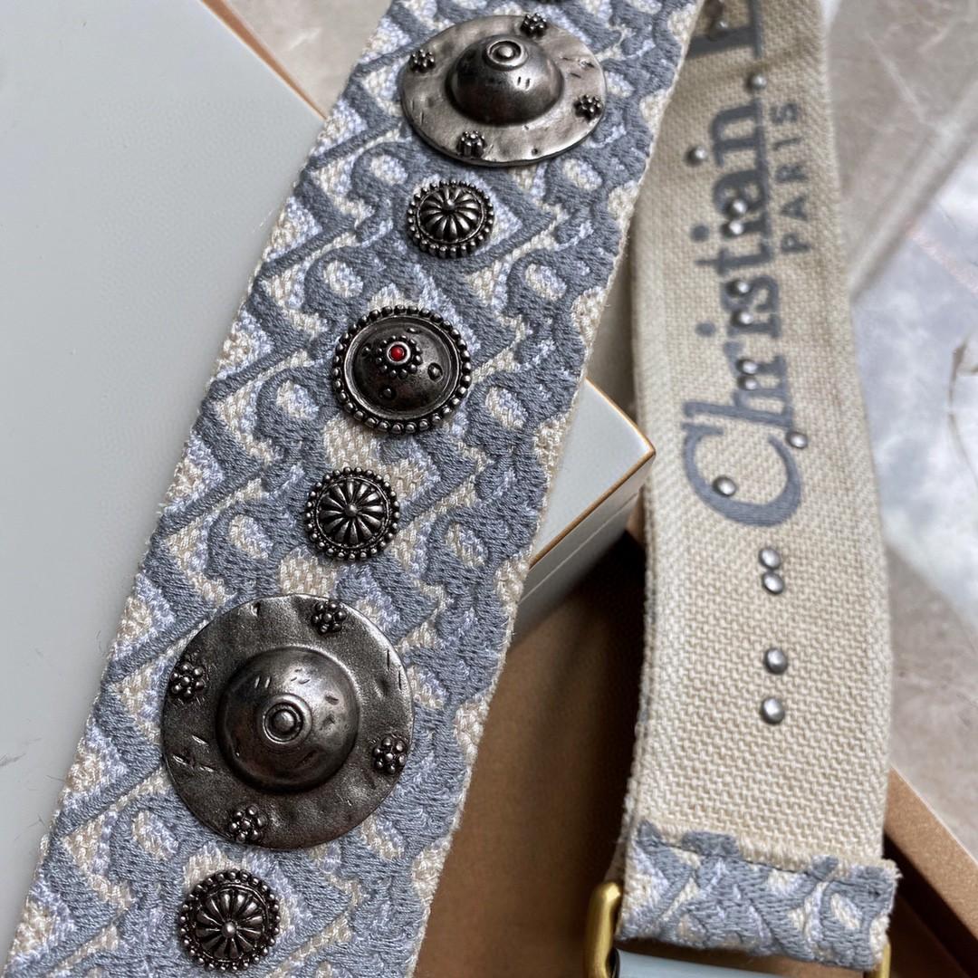 DIOR 迪奥肩带 布纹灰 经典时尚 百搭款式 进口五金 老师傅工艺