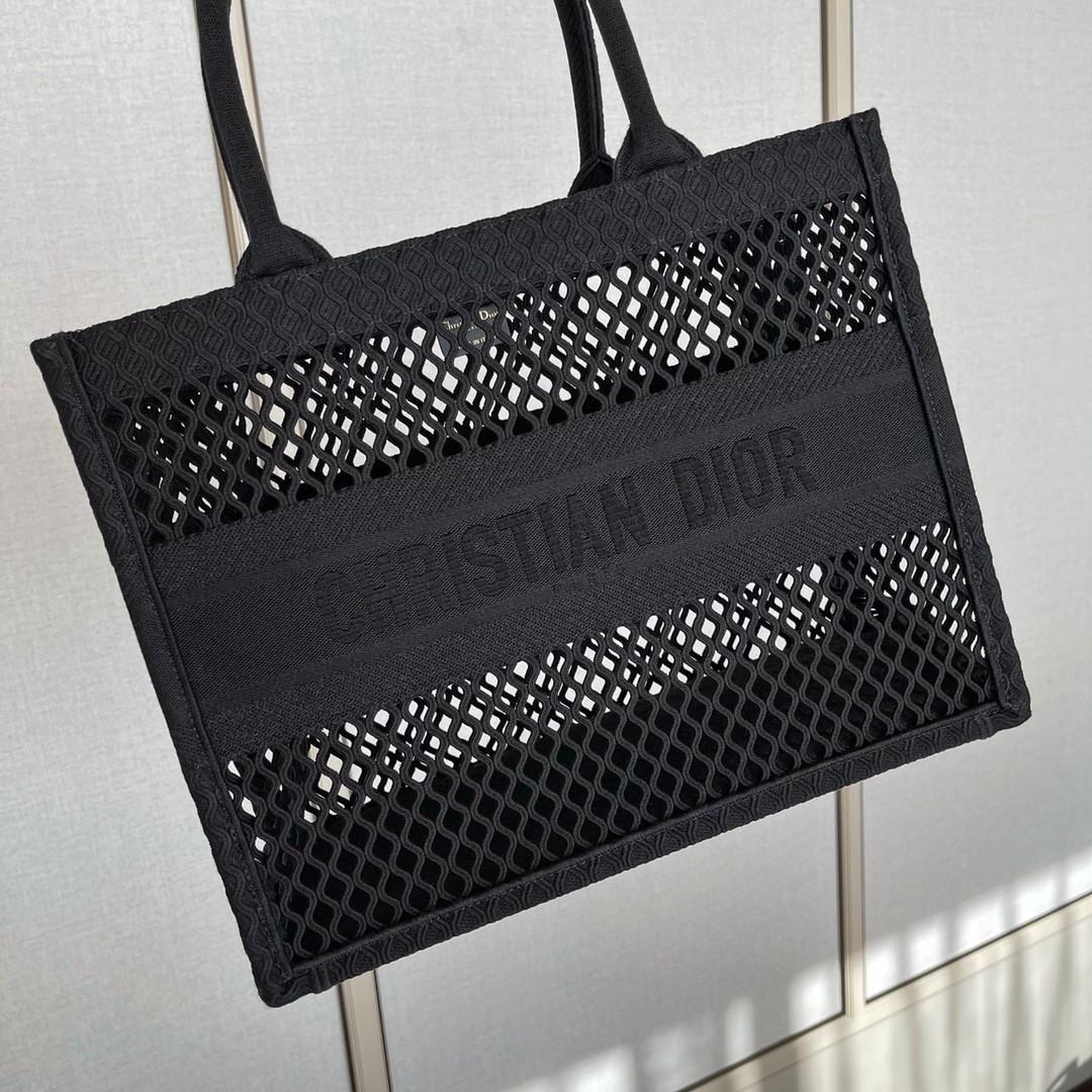 Dior 迪奥 购物袋 网文 黑色 小号 36.5cm