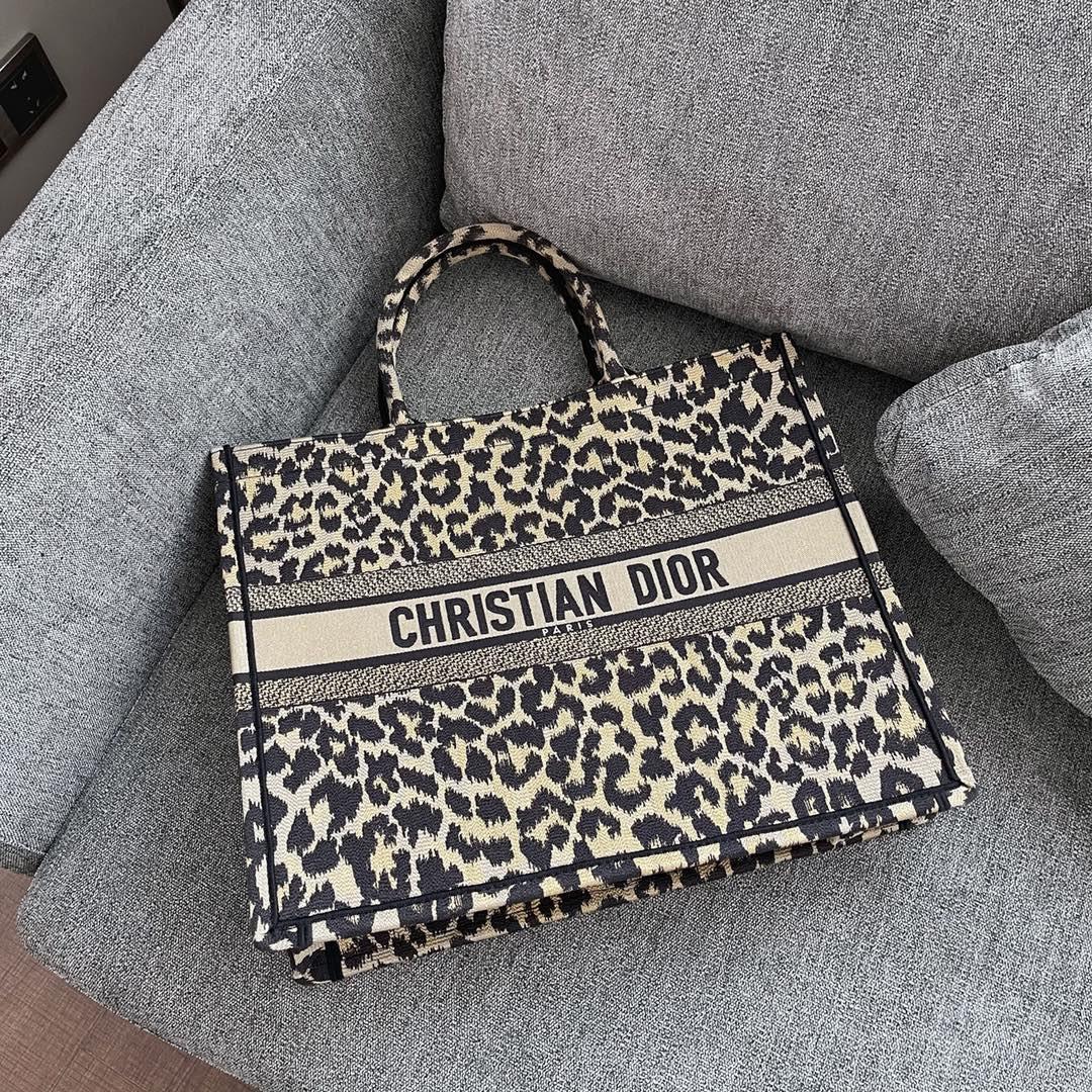 Dior 迪奥 购物袋 豹纹 大号41.5cm 狂野性感的气息!