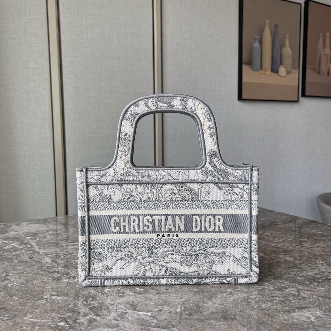 Dior 迪奥 购物袋 mini 灰老虎 精湛工艺 精致玲珑