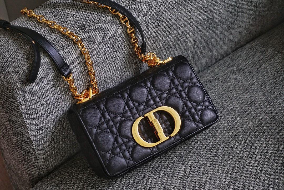 Dior 迪奥 Caro 牛皮 小号/20cm 黑色-什么场合都能搭